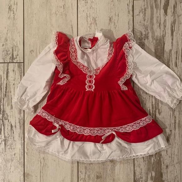 b66fa393a7a7 Vintage Dresses   Kids Red Christmas Dress   Poshmark